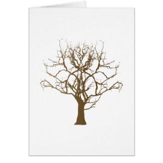 árbol calvo pagado al contado tree tarjeton