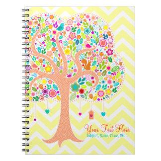 Árbol caprichoso - cuaderno espiral de encargo