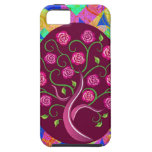 Árbol caprichoso del extracto colorido de los rosa iPhone 5 Case-Mate carcasa