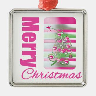 Árbol caprichoso rosado de las Felices Navidad Ornaments Para Arbol De Navidad
