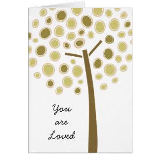 Árbol caprichoso tarjeta de felicitación