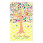 Árbol caprichoso - tarjetas de visita (verticales)