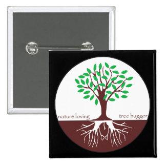 Árbol cariñoso Hugger de la naturaleza Pins