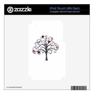 Árbol, casquillo de cristal del jarro iPod touch 4G skins