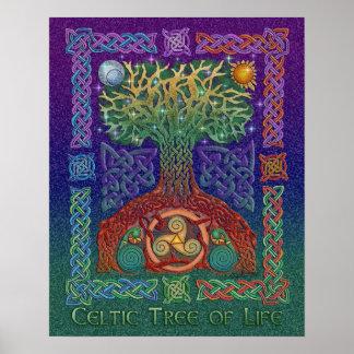 Árbol céltico de la impresión del poster de la vid