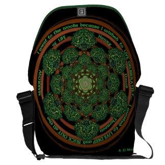 Árbol céltico de la mandala de la vida bolsas de mensajeria