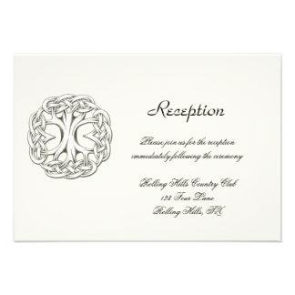 Árbol céltico de la recepción nupcial de la vida invitacion personal