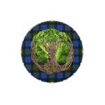 Árbol céltico de la vida y del tartán de Gunn del Frascos De Caramelos