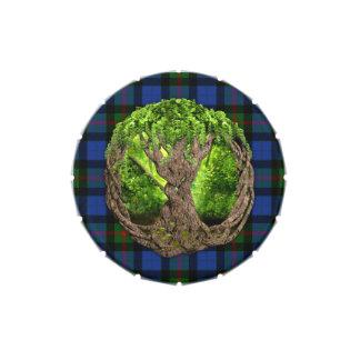 Árbol céltico de la vida y del tartán de Gunn del Latas De Dulces
