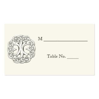 Árbol céltico de las tarjetas del lugar del boda tarjetas de visita