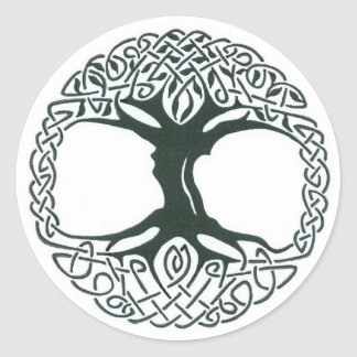 Árbol céltico de los pegatinas de la vida pegatina redonda