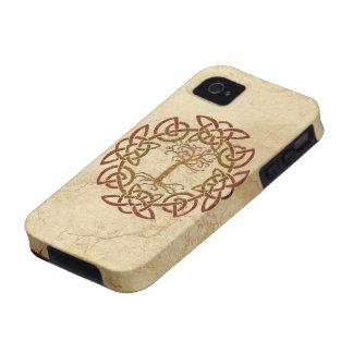 Árbol céltico de Viking del círculo del caso del i iPhone 4/4S Fundas