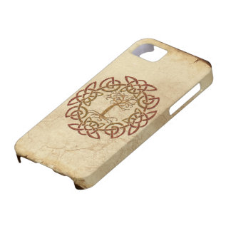 Árbol céltico de Viking del círculo del caso del i iPhone 5 Case-Mate Protector