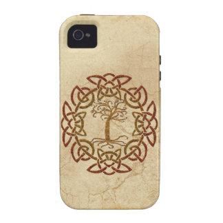 Árbol céltico de Viking del círculo del caso del i iPhone 4/4S Carcasas