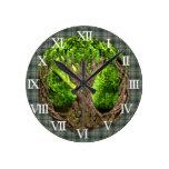 Árbol céltico del clan Craig de la vida Reloj De Pared