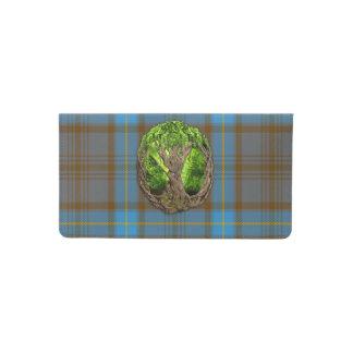 Árbol céltico del clan Hannah de la vida Funda Para Chequera