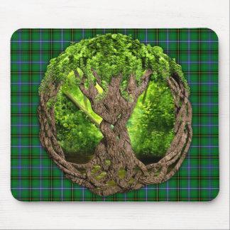 Árbol céltico del clan Henderson de la vida Tapetes De Ratones