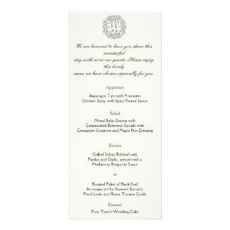 Árbol céltico del menú del boda de la vida lona personalizada
