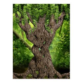 Árbol céltico del nudo postal
