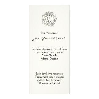 Árbol céltico del programa del boda de la vida lona publicitaria