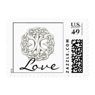 Árbol céltico del sello del amor de la vida