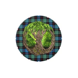 Árbol céltico del tartán de Guthrie del clan de la Latas De Caramelos