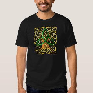 Árbol céltico verde de la trinidad del arte polera