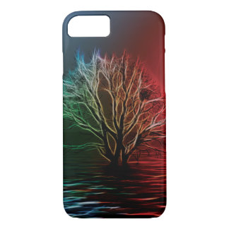 Árbol, cielo y río de Fractalius Funda iPhone 7