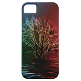 Árbol, cielo y río de Fractalius iPhone 5 Fundas