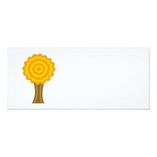 """Árbol. Colores de oro del otoño. Diseño enrrollado Invitación 4"""" X 9.25"""""""