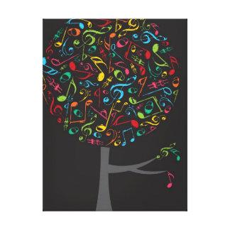 Árbol colorido del estallido del canto de la lona estirada galerias