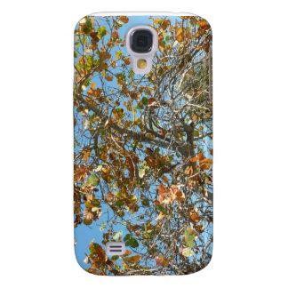 Árbol colorido del seagrape contra el cielo azul d samsung galaxy s4 cover