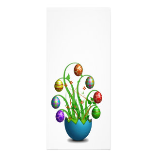 Árbol colorido lindo del huevo de Pascua Lona Publicitaria
