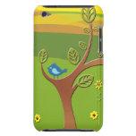 Árbol con el pájaro - para el tacto iPod Case-Mate fundas