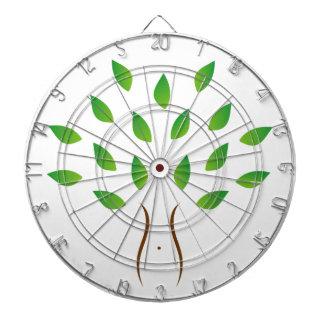 Árbol con la figura delgada que muestra pérdida de