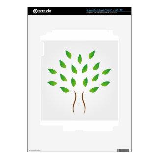 Árbol con la figura delgada que muestra pérdida de iPad 3 pegatinas skins