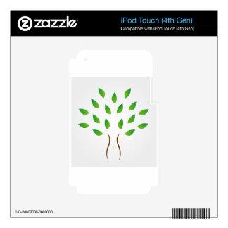 Árbol con la figura delgada que muestra pérdida de iPod touch 4G skin