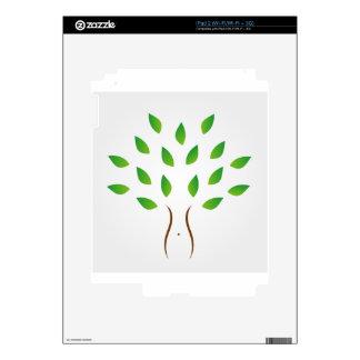 Árbol con la figura delgada que muestra pérdida de skin para el iPad 2