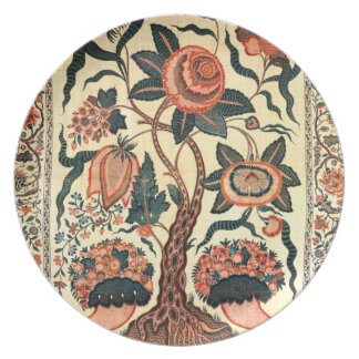Árbol con las flores y los cuernos de la abundanci plato de cena