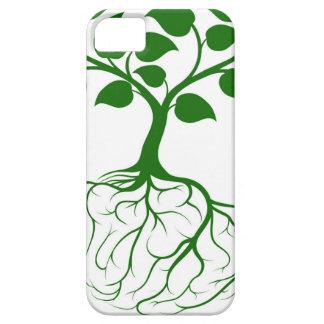 Árbol con las raíces del cerebro funda para iPhone 5 barely there