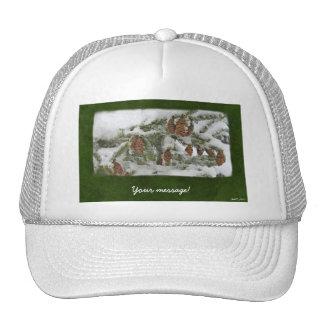 Árbol con los conos del pino - mensaje de encargo  gorra