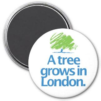 Árbol conservador del conservador imán redondo 7 cm