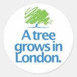 Árbol conservador del conservador pegatina redonda