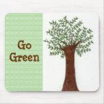Árbol creciente - va el verde alfombrilla de ratón