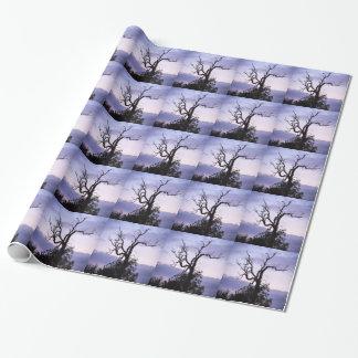 Árbol crepuscular papel de regalo