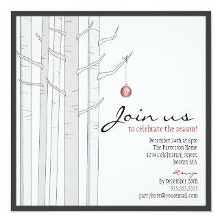 Árbol de abedul de la celebración de días festivos invitación personalizada