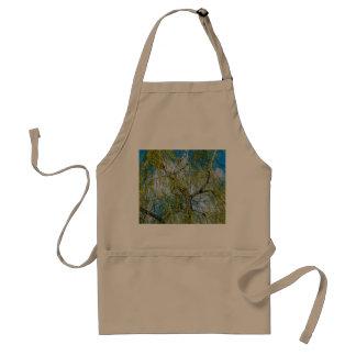 Árbol de abedul - la primavera está en el aire delantal