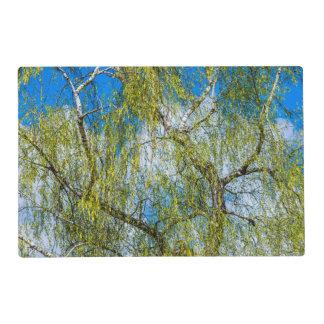 Árbol de abedul - la primavera está en el aire tapete individual