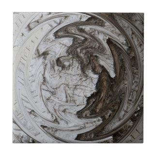 Árbol de abedul Yin y Yang Azulejo Cuadrado Pequeño