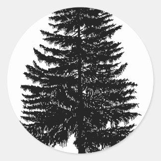 árbol de abeto pegatina
